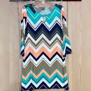 Haani Fall Color Chevron dress